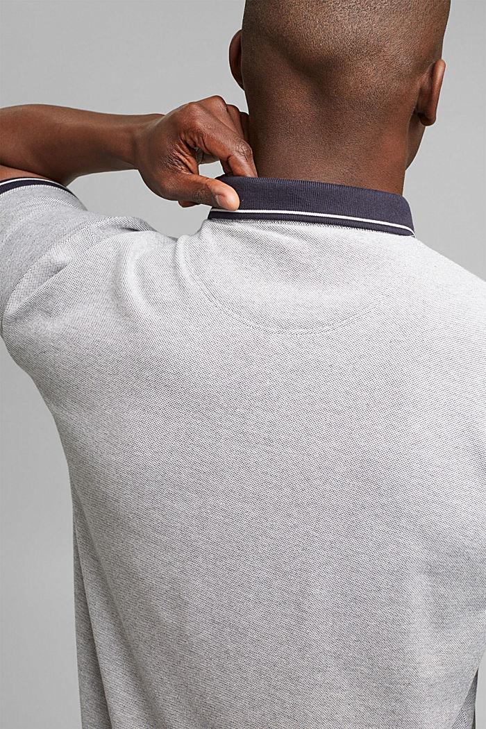Piequé-Polo aus 100% Bio-Baumwolle, NAVY, detail image number 5