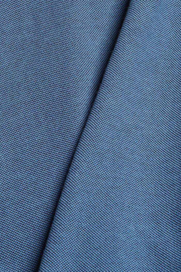 Piequé-Polo aus 100% Bio-Baumwolle, PETROL BLUE, detail image number 4