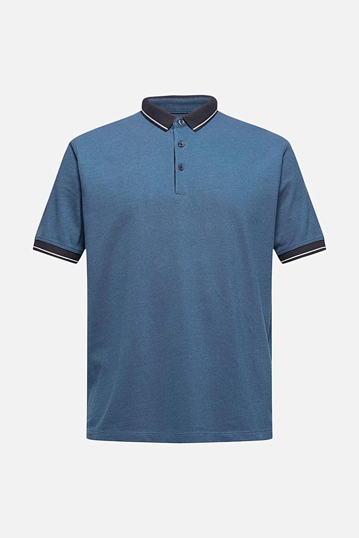 Piequé-Polo aus 100% Bio-Baumwolle, PETROL BLUE, detail image number 5