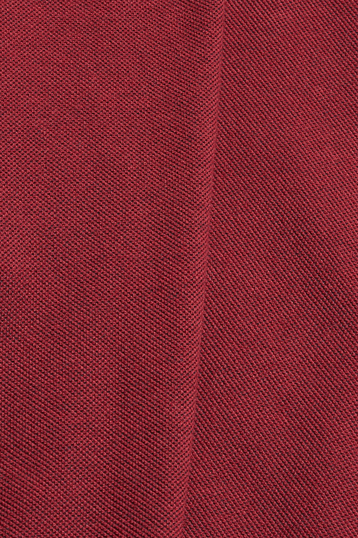 Piqué polo shirt in 100% organic cotton, GARNET RED, detail image number 4