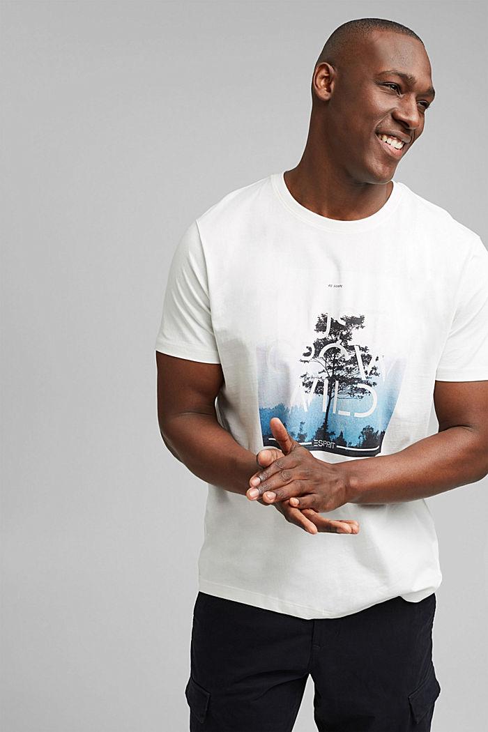 Jersey T-shirt met fotoprint, biologisch katoen