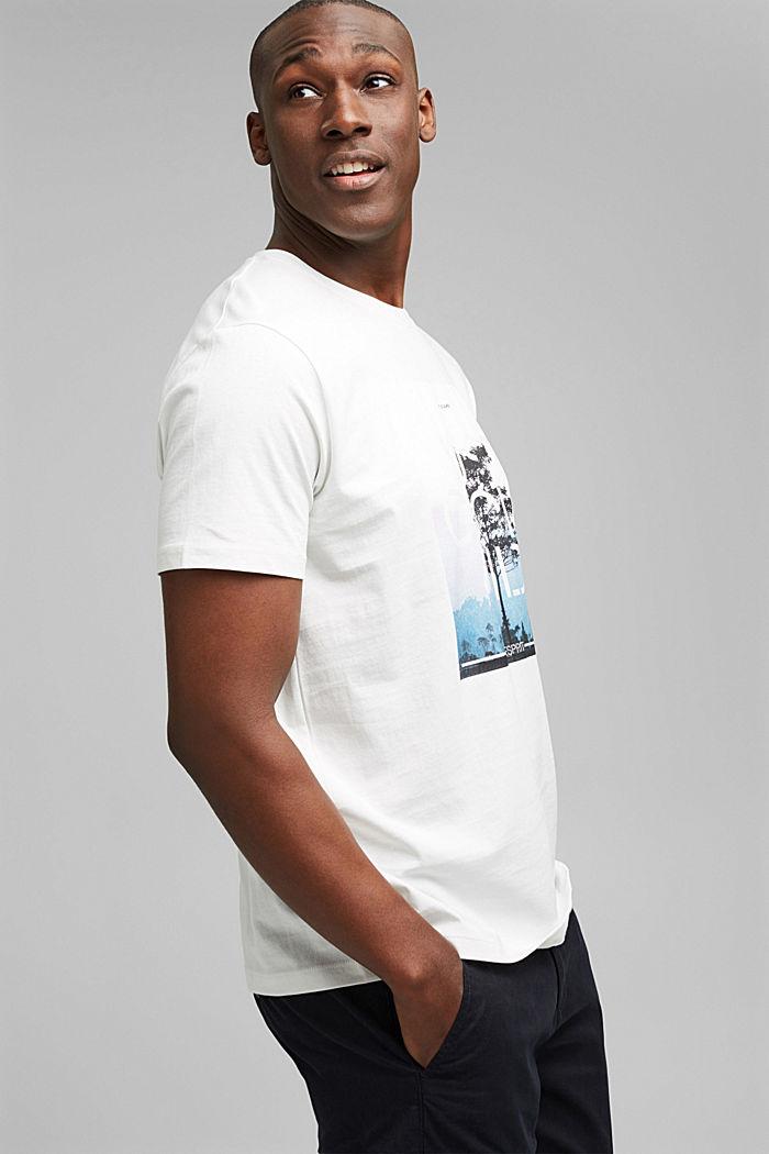 Jersey T-shirt met fotoprint, biologisch katoen, OFF WHITE, detail image number 4