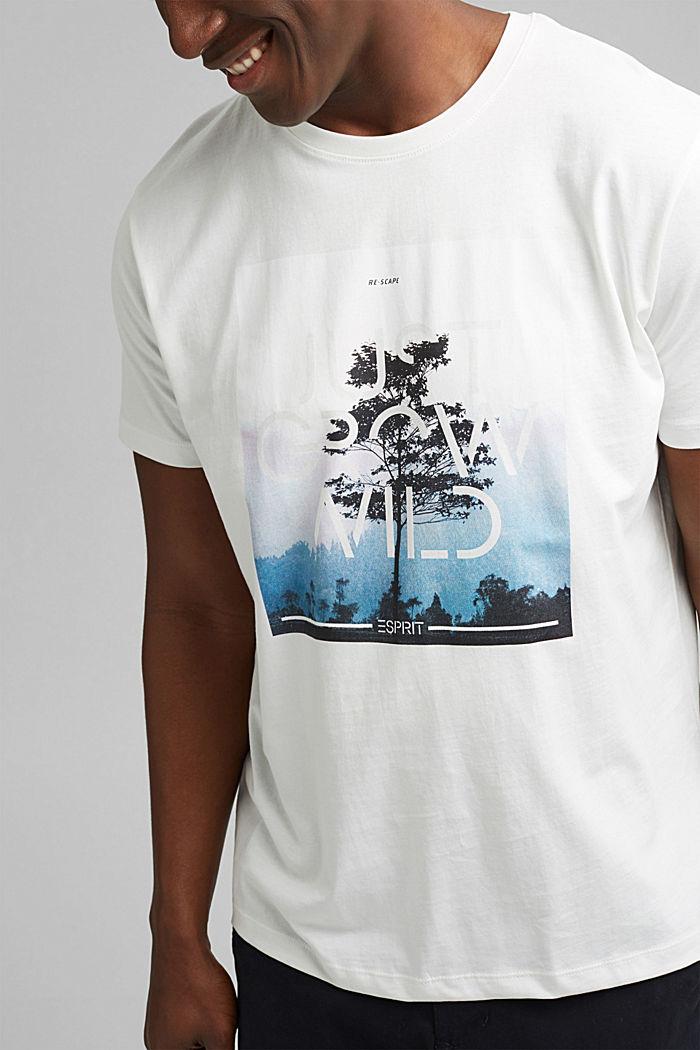 Jersey T-shirt met fotoprint, biologisch katoen, OFF WHITE, detail image number 1