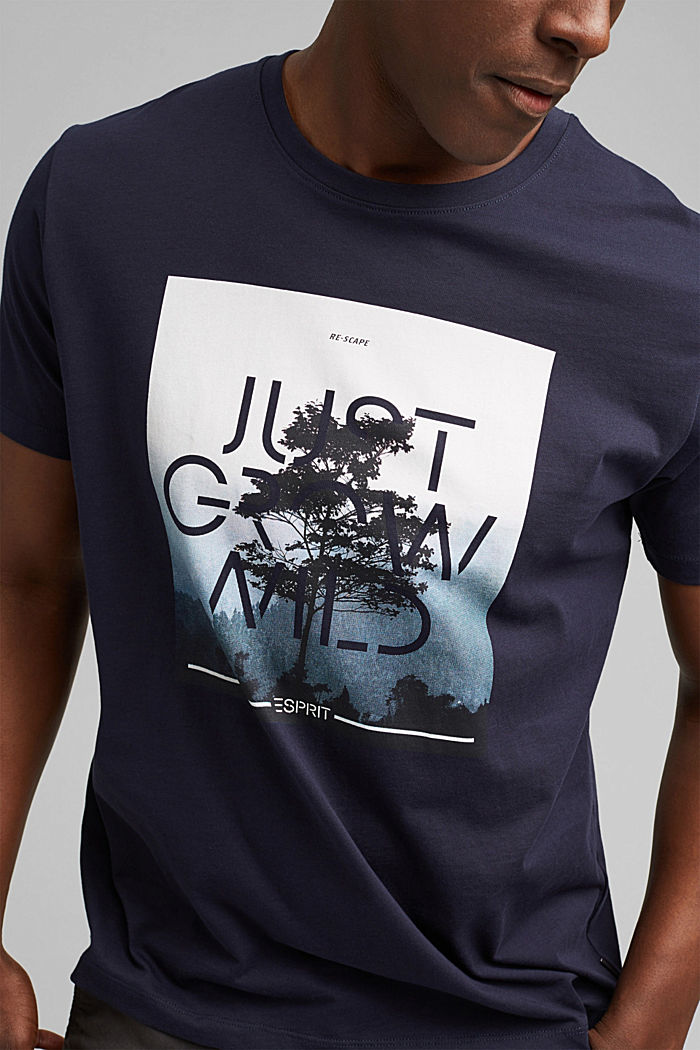 Jersey T-shirt with a photo print, organic cotton, NAVY, detail image number 1
