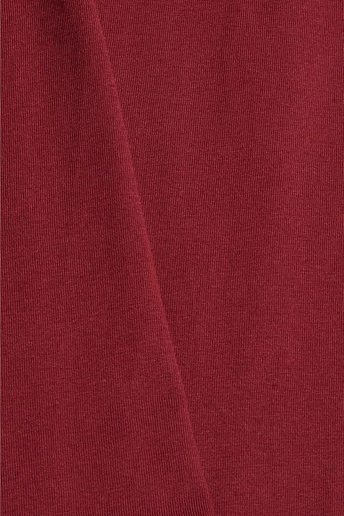 Jersey-T-Shirt mit Foto-Print, Bio-Baumwolle, GARNET RED, detail image number 4