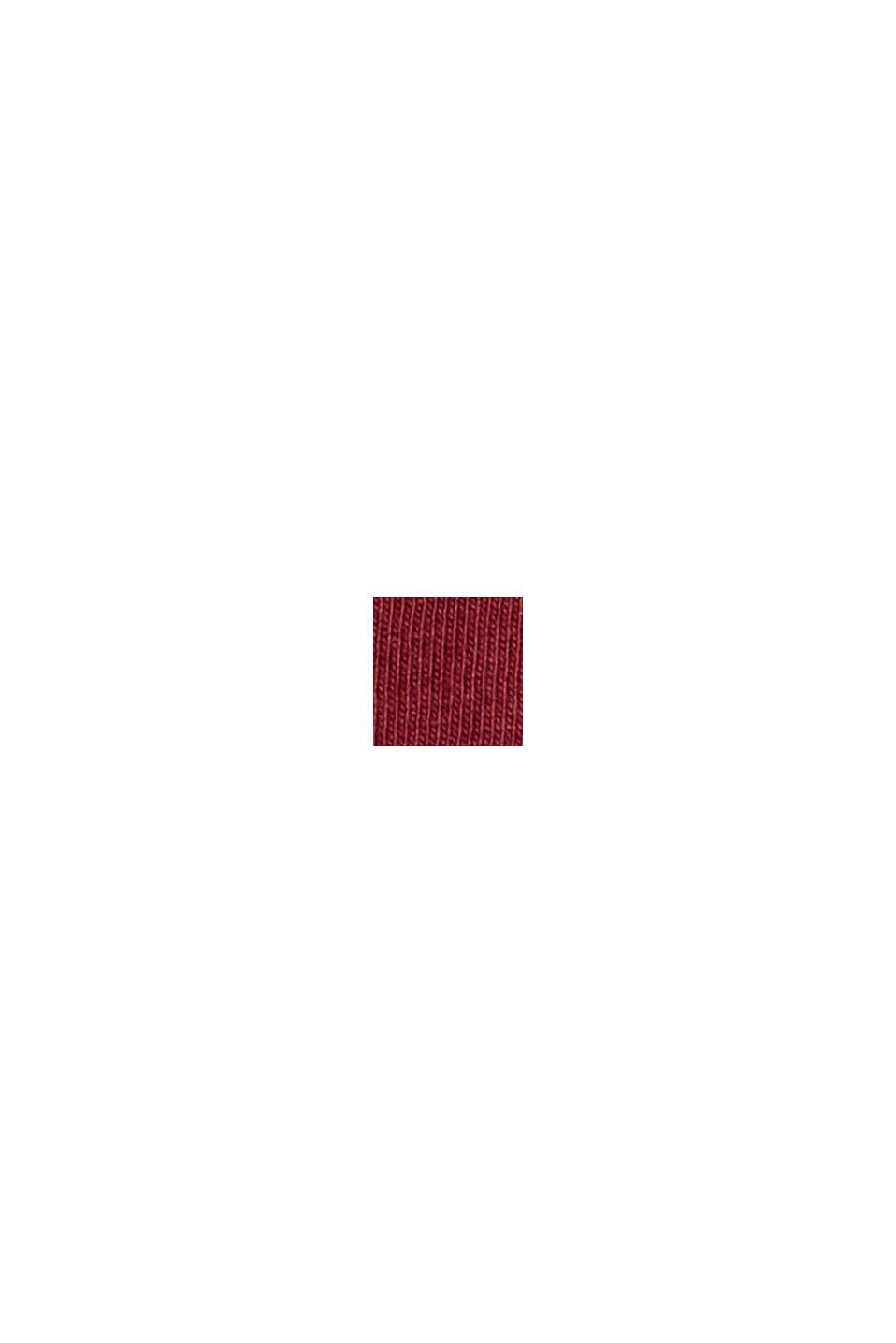 Valokuvapainettu jersey-T-paita, luomupuuvillaa, GARNET RED, swatch