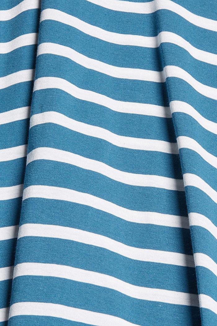 Pruhované tričko ze 100% bio bavlny, PETROL BLUE, detail image number 4