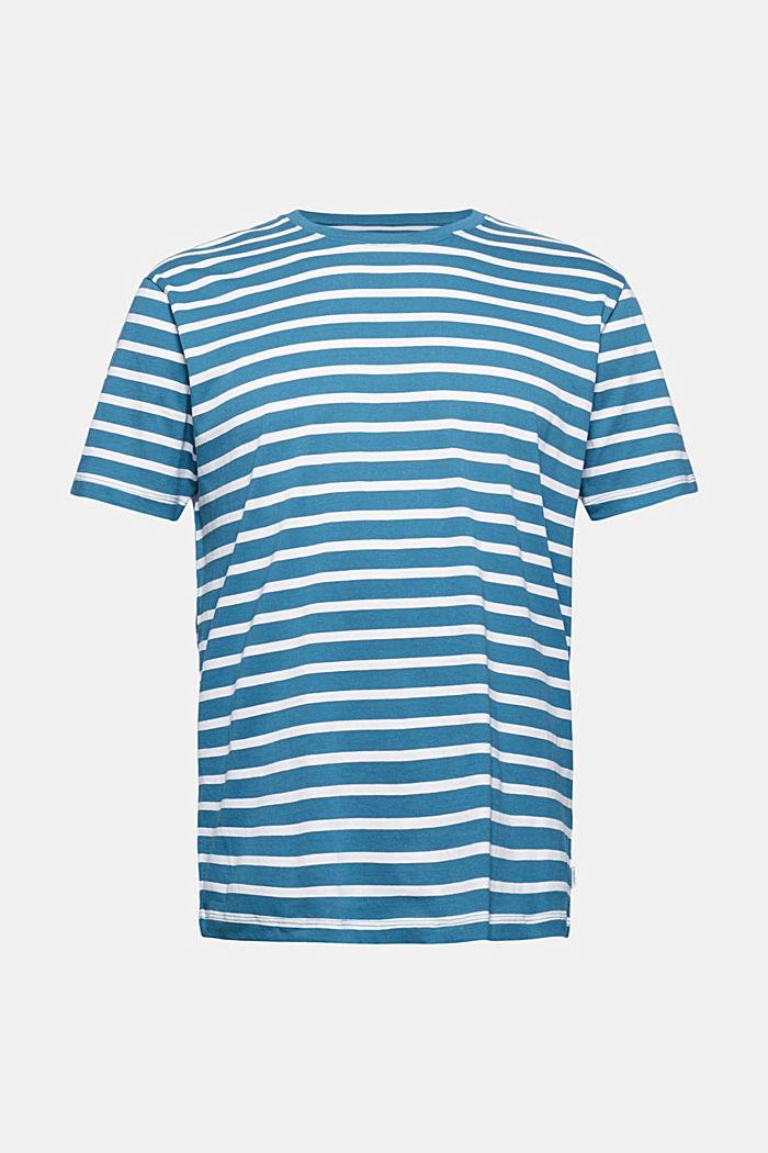 Pruhované tričko ze 100% bio bavlny, PETROL BLUE, detail image number 5
