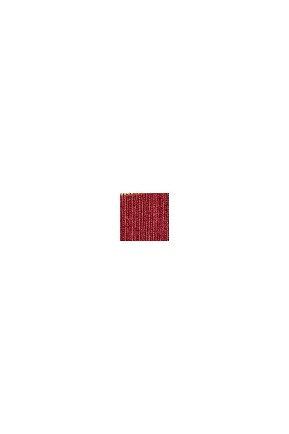 Striped T-shirt made of 100% organic cotton, GARNET RED, swatch