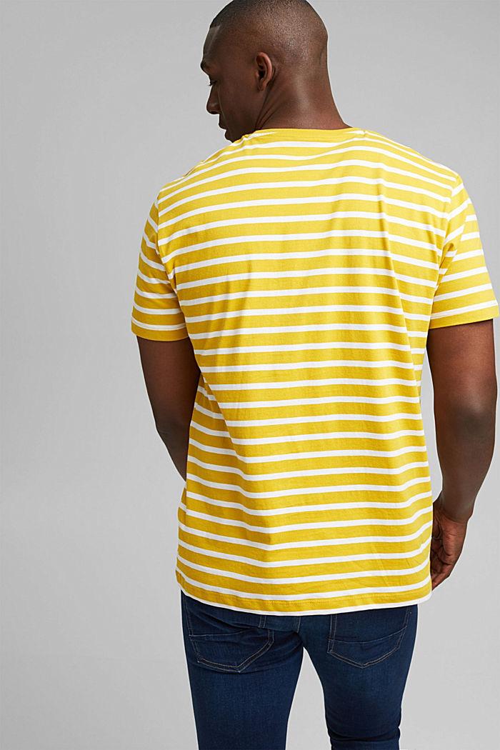Gestreiftes T-Shirt aus 100% Bio-Baumwolle, YELLOW, detail image number 3
