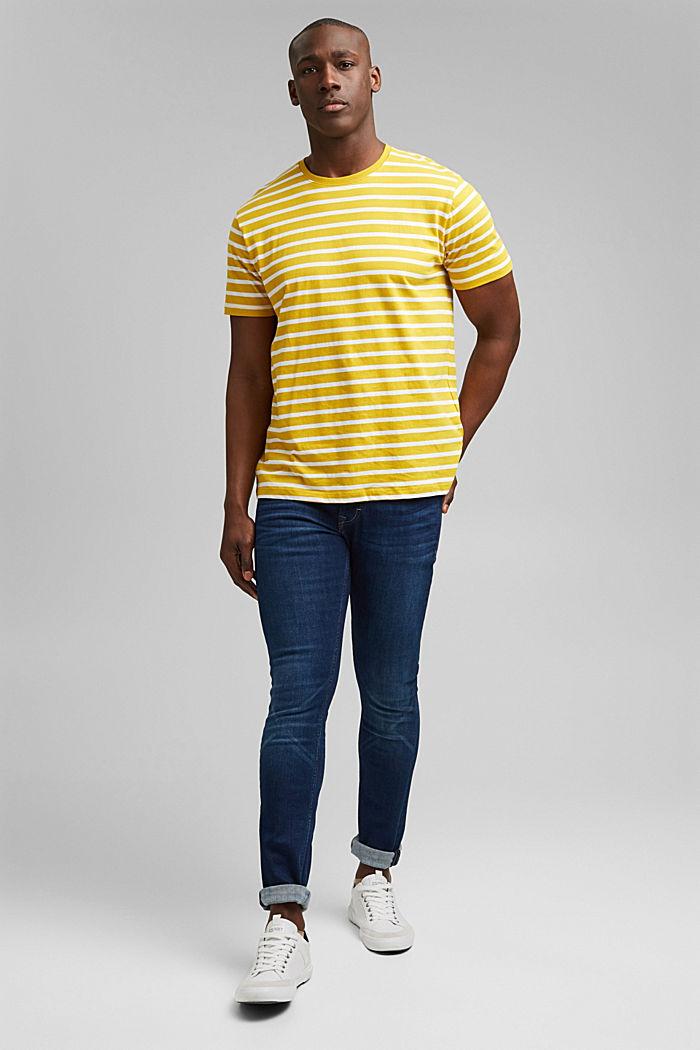 Gestreiftes T-Shirt aus 100% Bio-Baumwolle, YELLOW, detail image number 2
