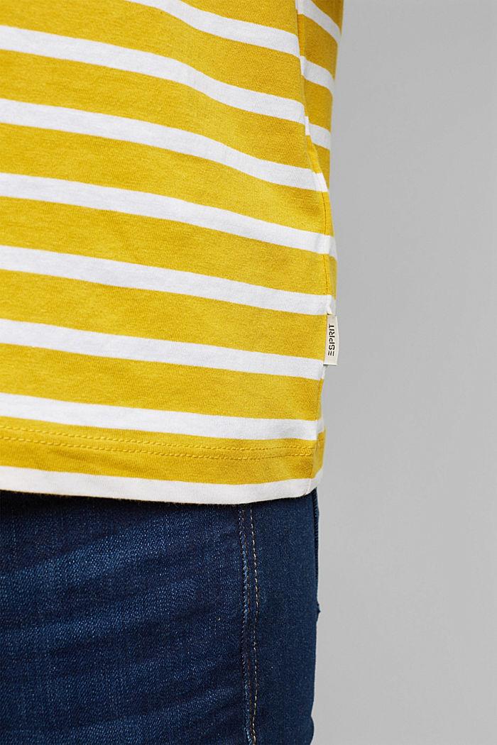 Gestreiftes T-Shirt aus 100% Bio-Baumwolle, YELLOW, detail image number 5