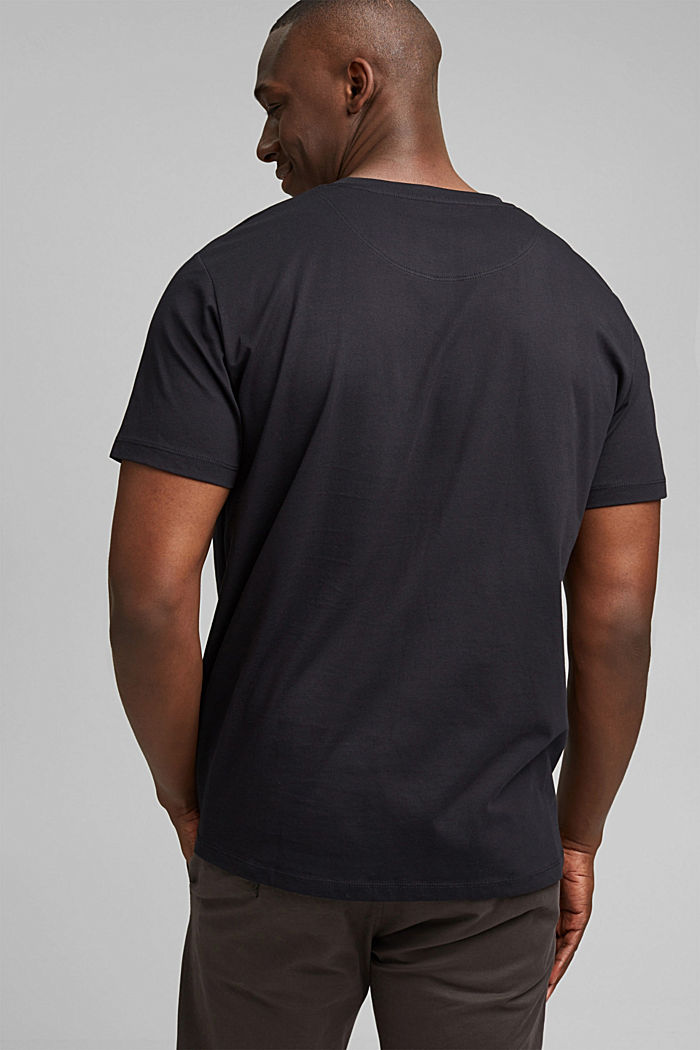 Jersey T-shirt with embroidery, 100% organic cotton, BLACK, detail image number 3