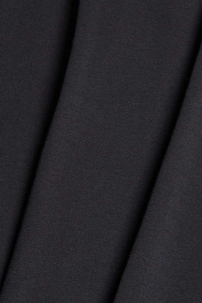 Jersey T-shirt with embroidery, 100% organic cotton, BLACK, detail image number 4