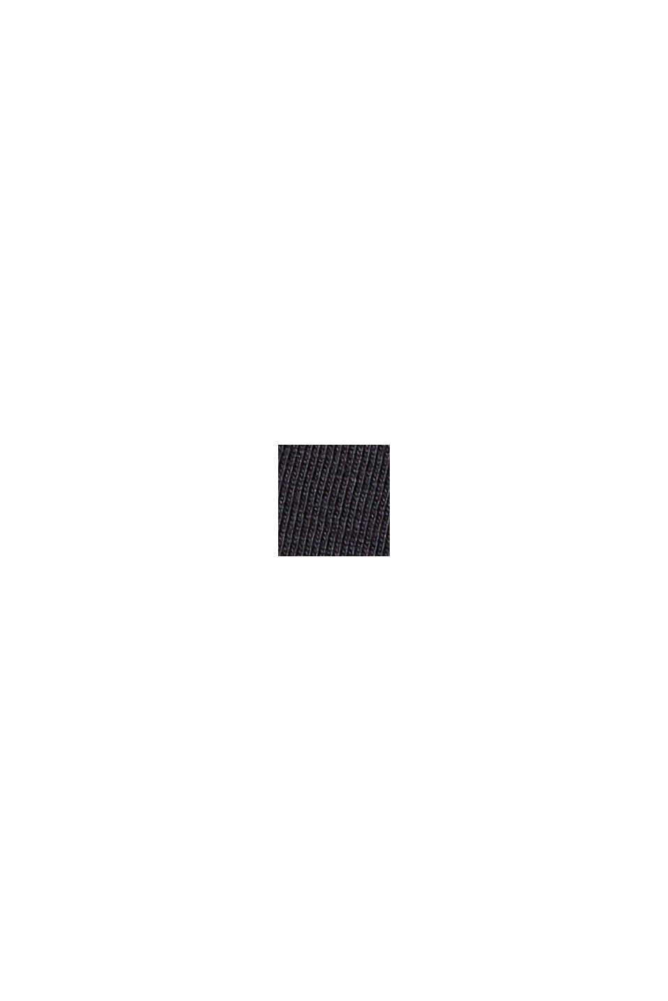 Kirjailtu jersey-T-paita, 100 % luomupuuvillaa, BLACK, swatch