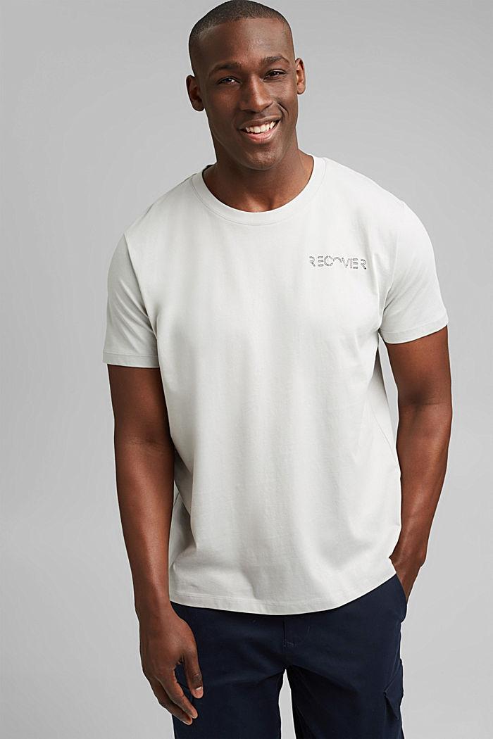 T-shirt en jersey à broderie, 100% coton bio