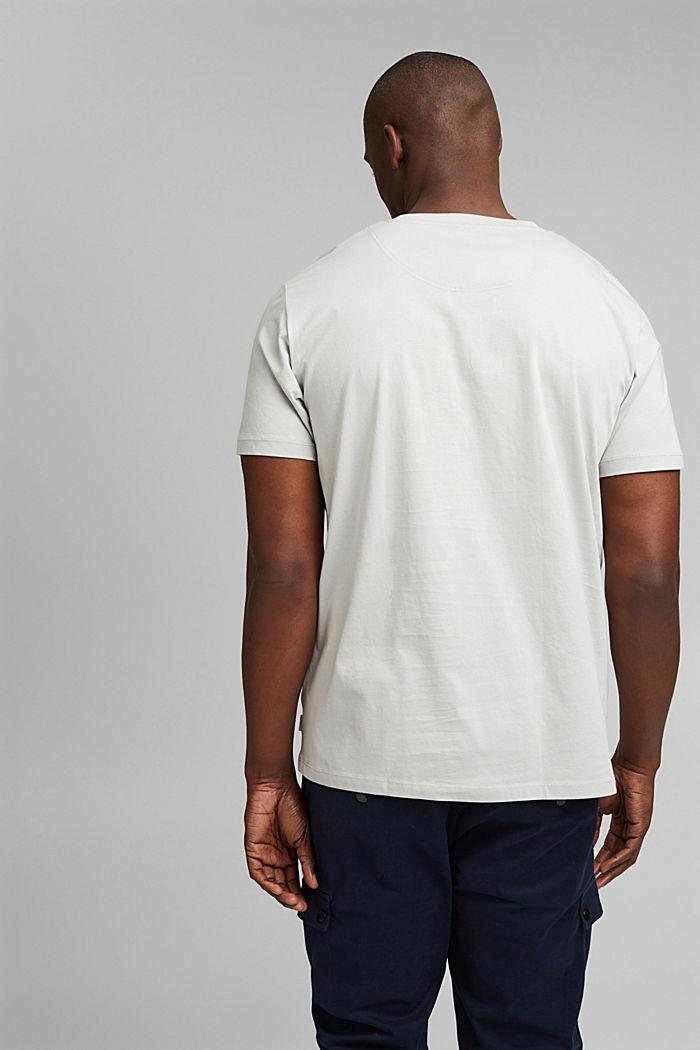 Jersey-T-Shirt mit Stickerei, 100% Bio-Baumwolle, LIGHT GREY, detail image number 3