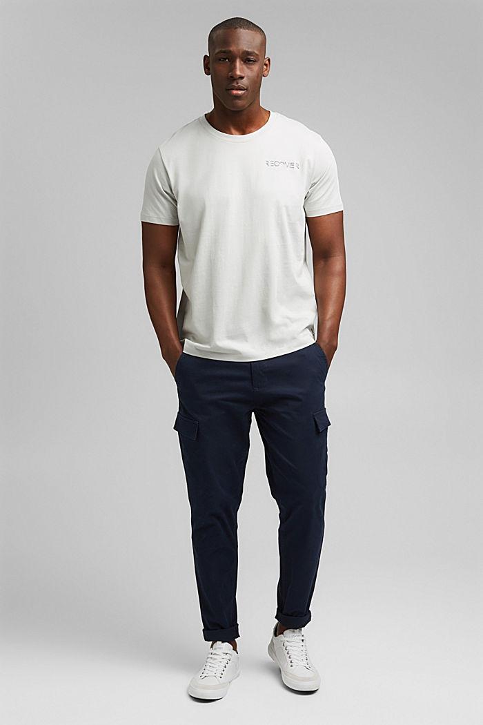Jersey-T-Shirt mit Stickerei, 100% Bio-Baumwolle, LIGHT GREY, detail image number 2