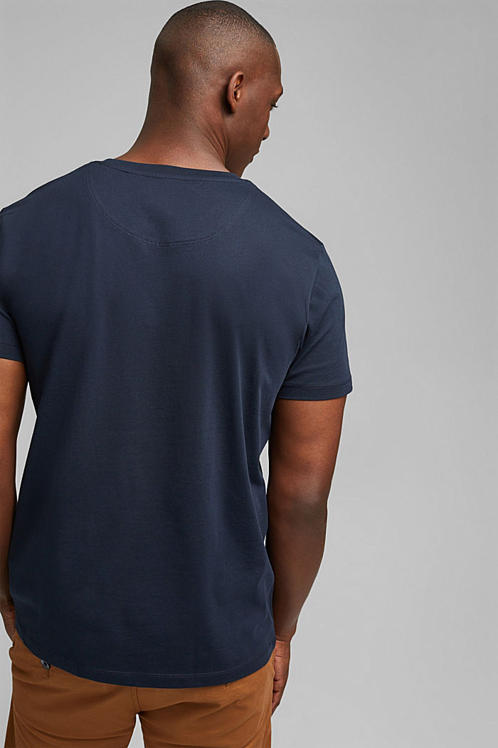 Jersey T-shirt with embroidery, 100% organic cotton, NAVY, detail image number 3