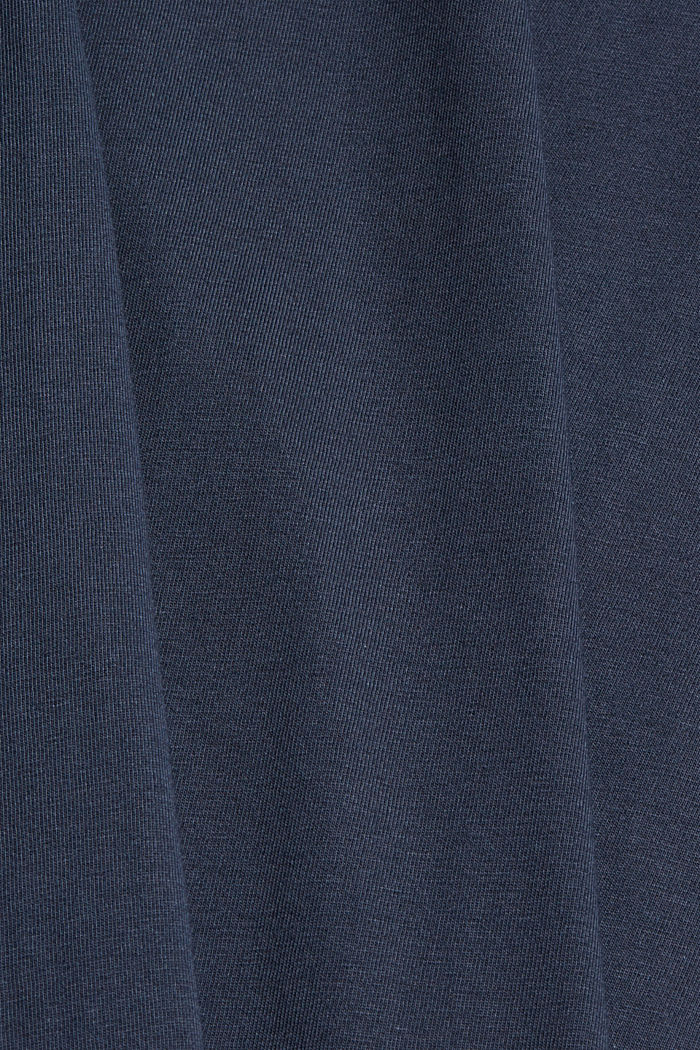 Jersey T-shirt with embroidery, 100% organic cotton, NAVY, detail image number 5