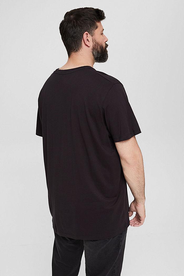 Camiseta de jersey con estampado, 100 % algodón ecológico, BLACK, detail image number 3