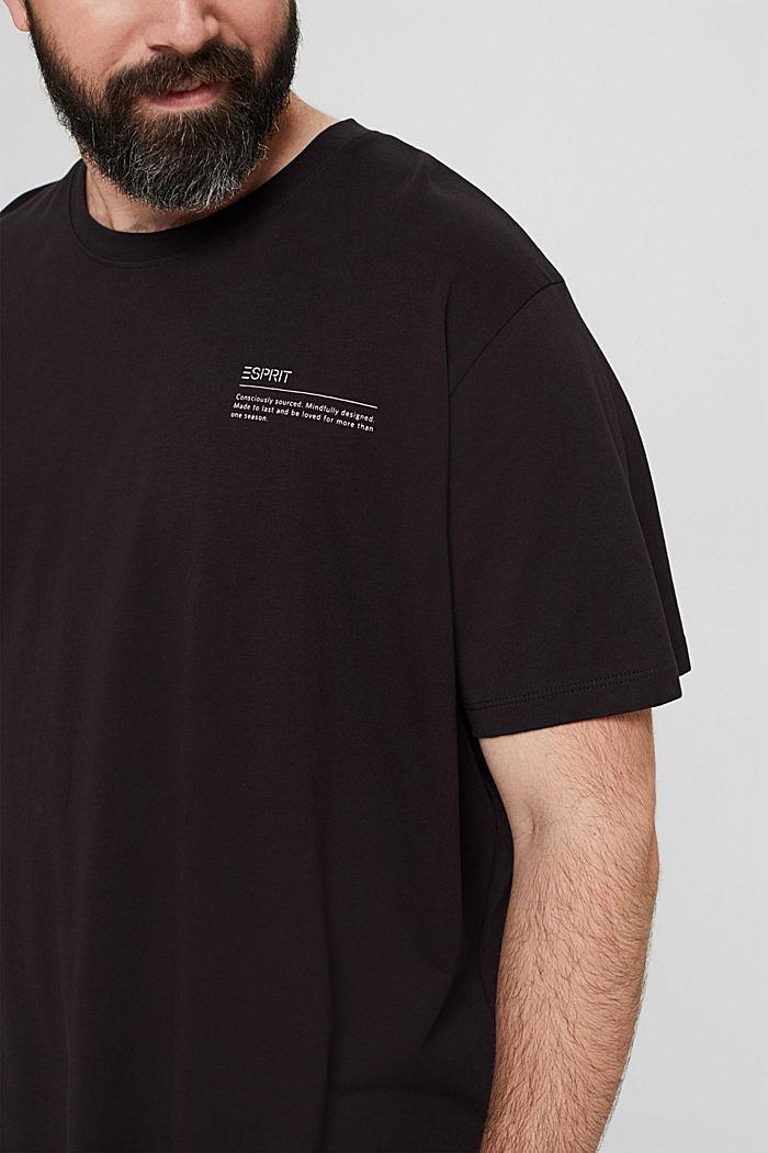 Camiseta de jersey con estampado, 100 % algodón ecológico, BLACK, detail image number 1