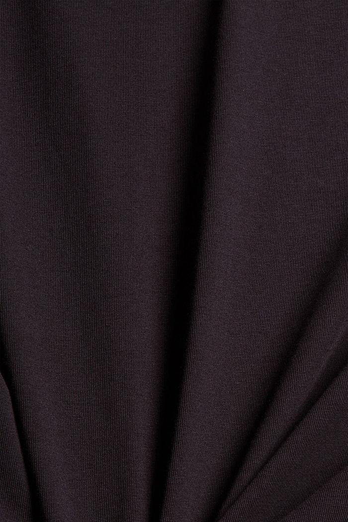 Camiseta de jersey con estampado, 100 % algodón ecológico, BLACK, detail image number 4