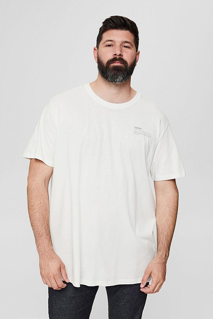Camiseta de jersey con estampado, 100 % algodón ecológico, OFF WHITE, detail image number 0