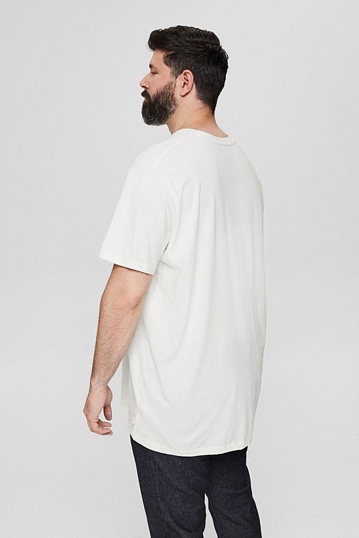 Camiseta de jersey con estampado, 100 % algodón ecológico, OFF WHITE, detail image number 3