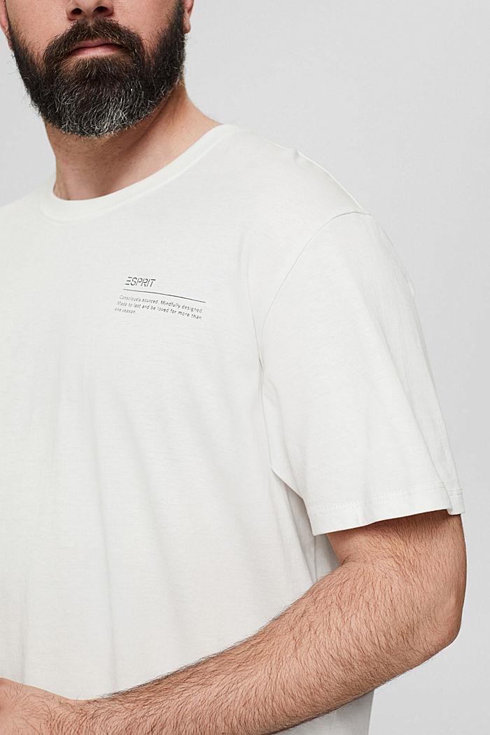 Camiseta de jersey con estampado, 100 % algodón ecológico, OFF WHITE, detail image number 1