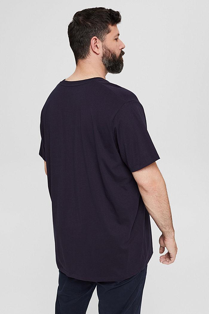Camiseta de jersey con estampado, 100 % algodón ecológico, NAVY, detail image number 3