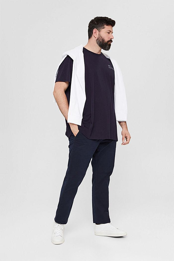 Camiseta de jersey con estampado, 100 % algodón ecológico, NAVY, detail image number 2
