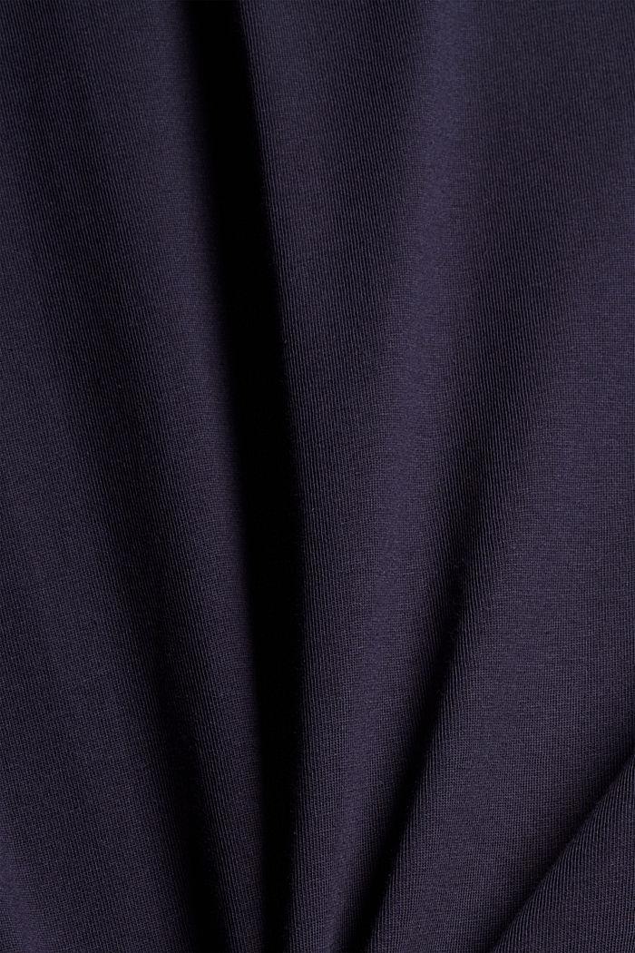 Camiseta de jersey con estampado, 100 % algodón ecológico, NAVY, detail image number 4