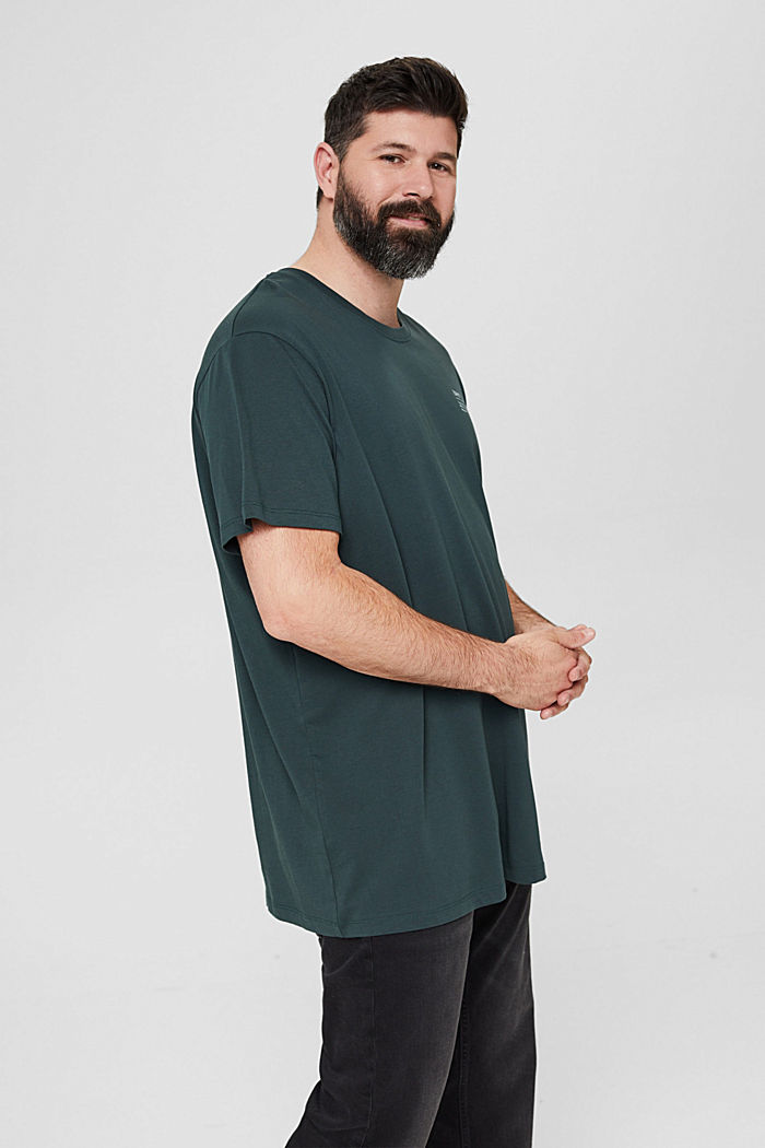 Jersey T-shirt with a print, 100% organic cotton