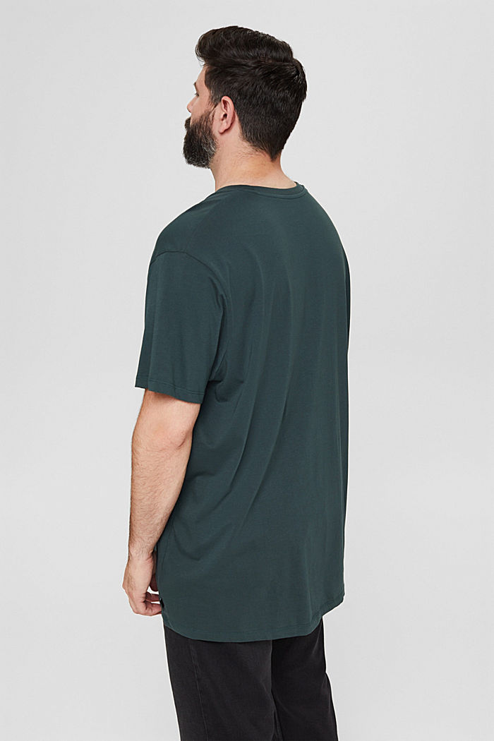 Jersey T-Shirt mit Print, 100% Bio-Baumwolle, TEAL BLUE, detail image number 3
