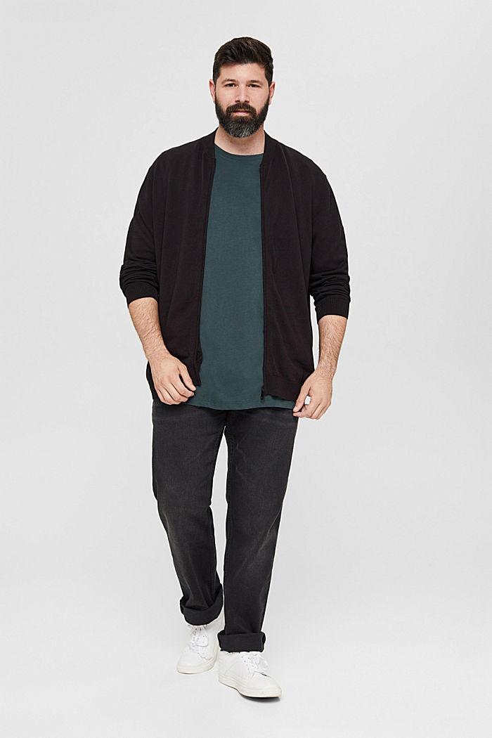 Jersey T-Shirt mit Print, 100% Bio-Baumwolle, TEAL BLUE, detail image number 2