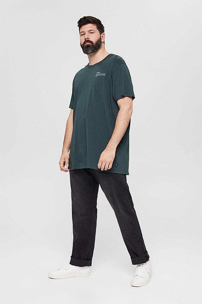 Jersey T-Shirt mit Print, 100% Bio-Baumwolle, TEAL BLUE, detail image number 6