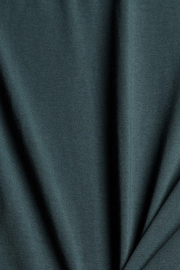 Jersey T-Shirt mit Print, 100% Bio-Baumwolle, TEAL BLUE, detail image number 4