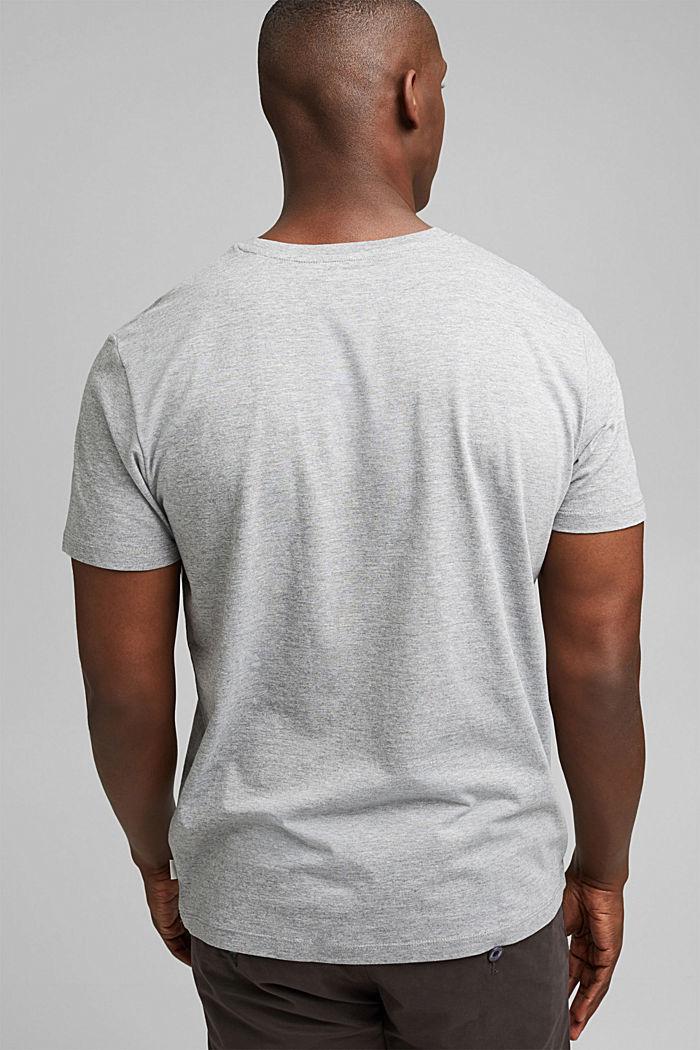 Jersey T-shirt met fotoprint, biologisch katoen, MEDIUM GREY, detail image number 3