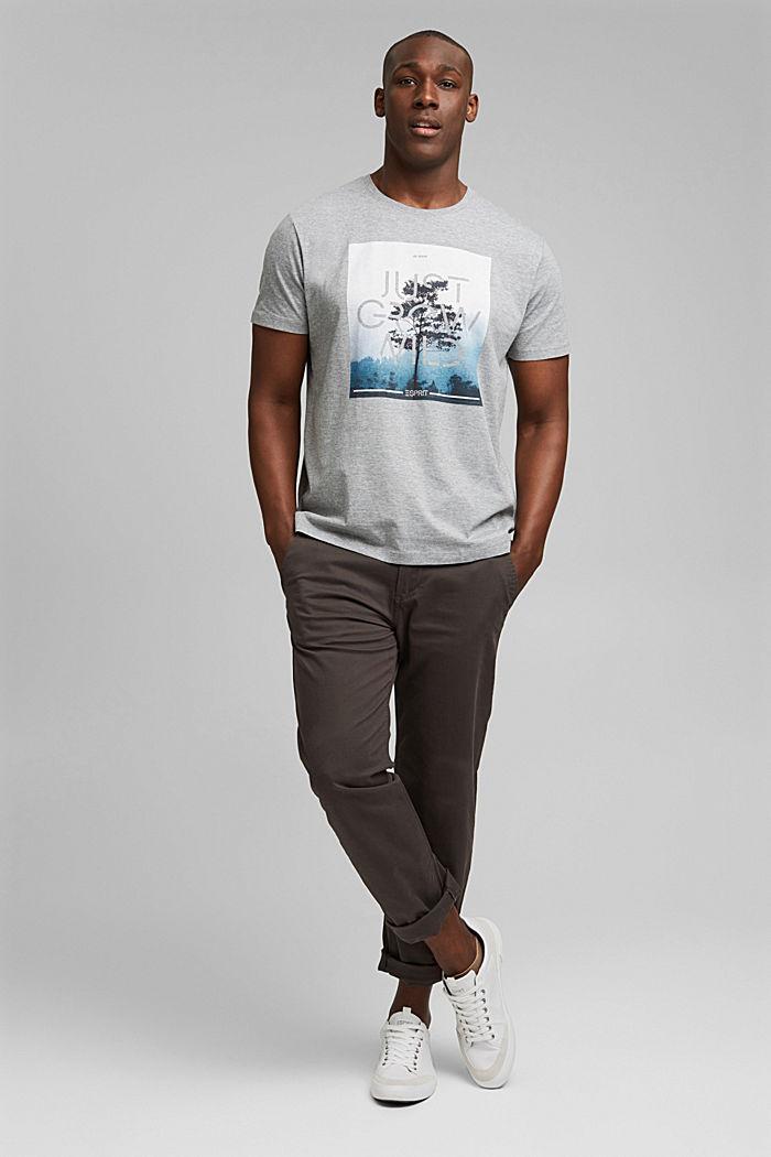 Jersey T-shirt met fotoprint, biologisch katoen, MEDIUM GREY, detail image number 2