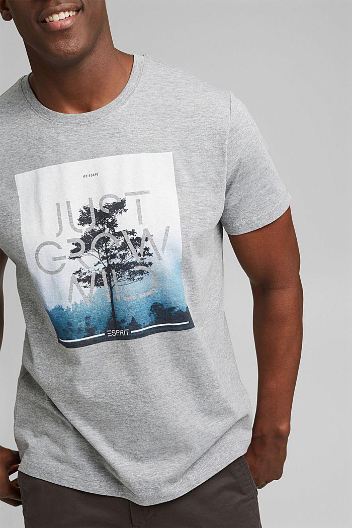 Jersey T-shirt met fotoprint, biologisch katoen, MEDIUM GREY, detail image number 1