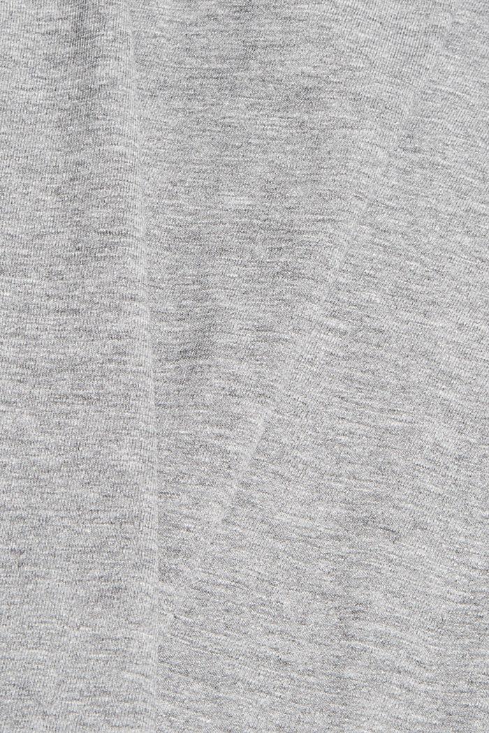 Jersey T-shirt met fotoprint, biologisch katoen, MEDIUM GREY, detail image number 4