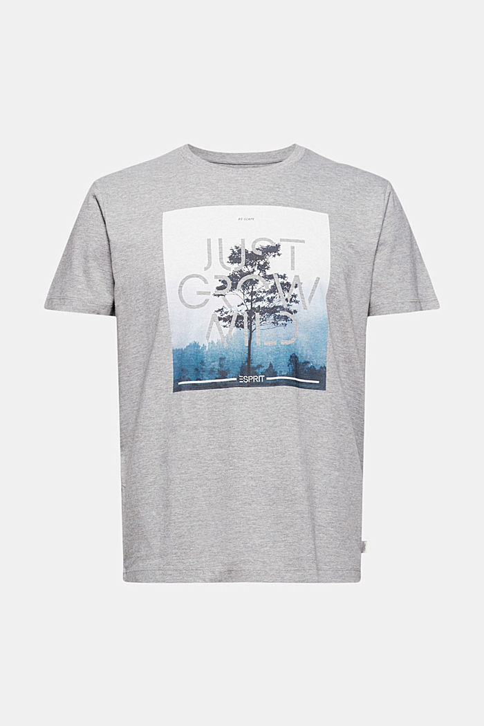 Valokuvapainettu jersey-T-paita, luomupuuvillaa