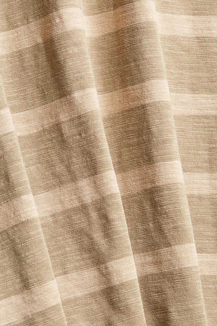 Jersey T-shirt met strepen, BEIGE, detail image number 4