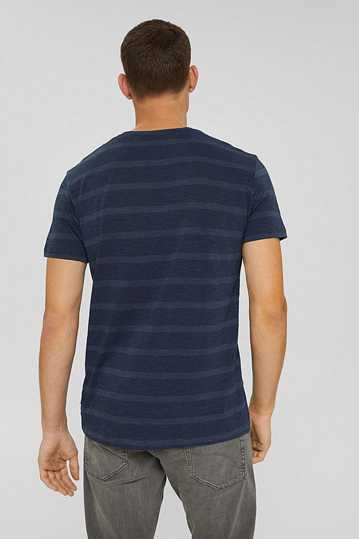 Jersey-T-Shirt im Streifenlook, NAVY, detail image number 3