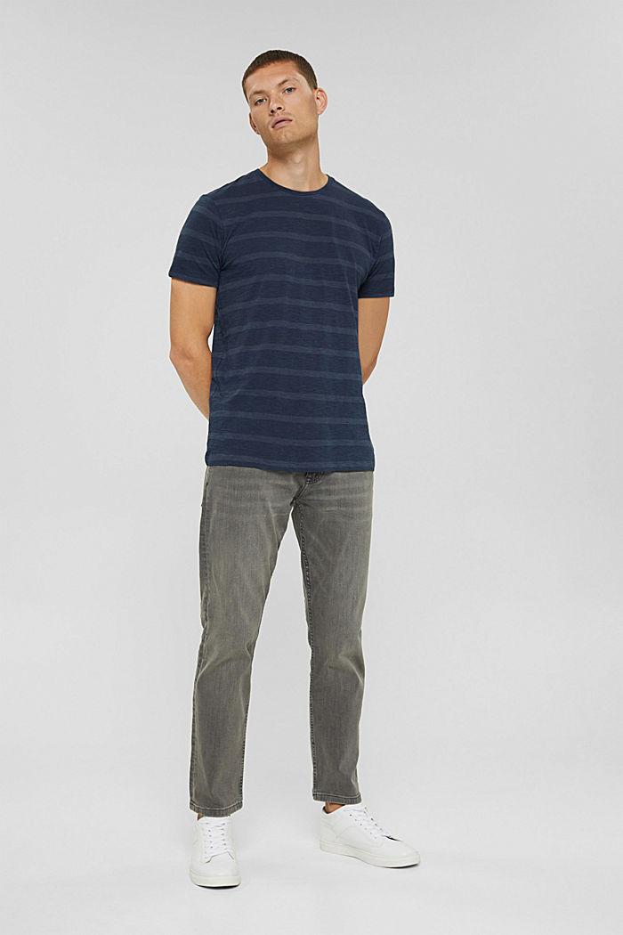 Jersey-T-Shirt im Streifenlook, NAVY, detail image number 2
