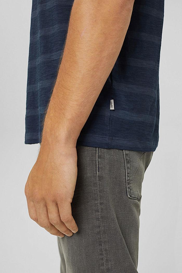 Jersey-T-Shirt im Streifenlook, NAVY, detail image number 1