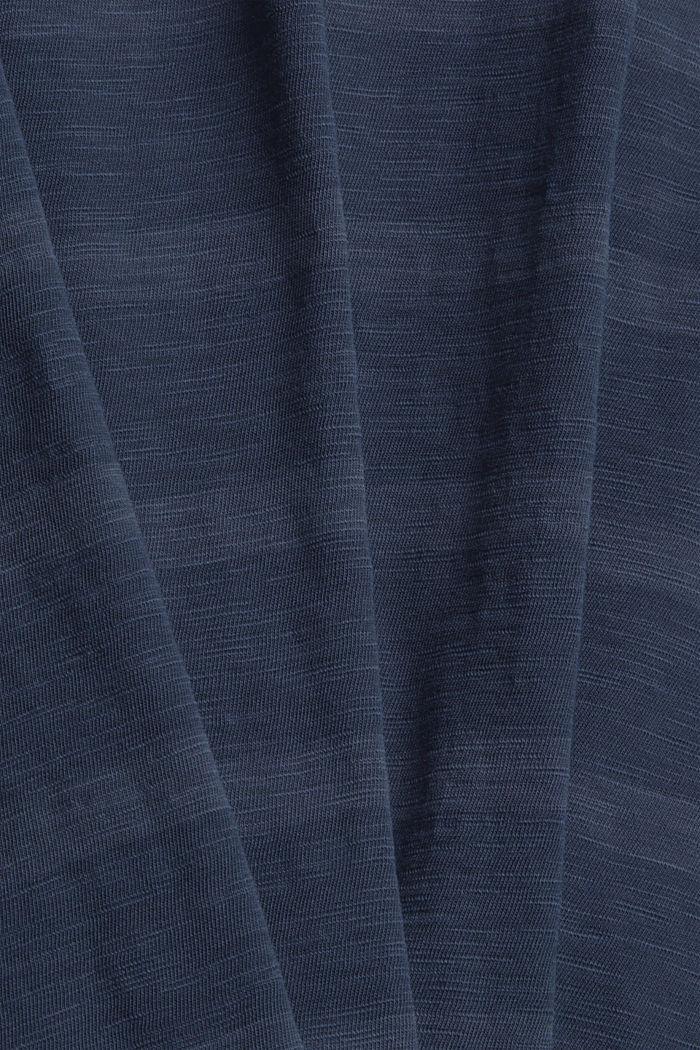Jersey-T-Shirt im Streifenlook, NAVY, detail image number 4