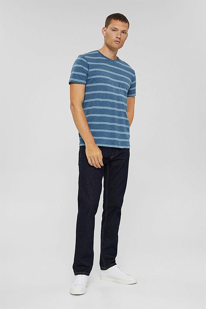 T-shirt en jersey au look rayé, LIGHT BLUE, detail image number 2