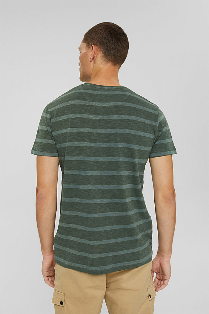 Jersey-T-Shirt im Streifenlook, TEAL BLUE, detail image number 3